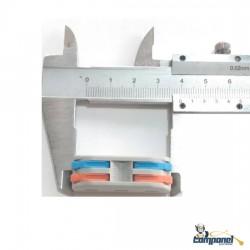 Conector Tipo Borne Emenda 2 Fios Duplo Pct 222
